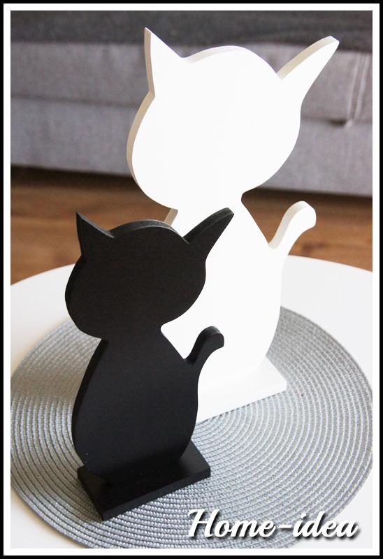 Bardzo dobry Kot 40 cm. - wzór 1 - mdf malowany - kolor do wyboru MC58